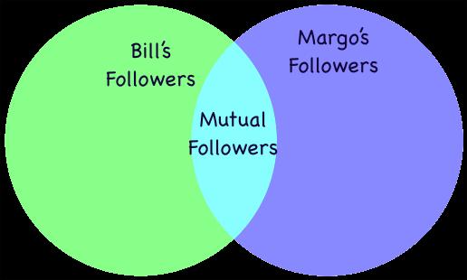 Mutual Follower Venn Diagram
